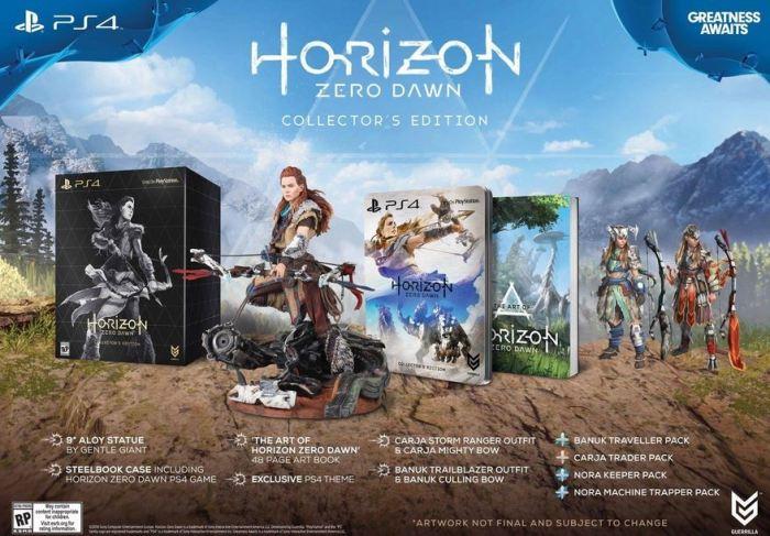 Horizion Zero Dawn Collectors Edition